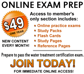 water treatment operator certification exam